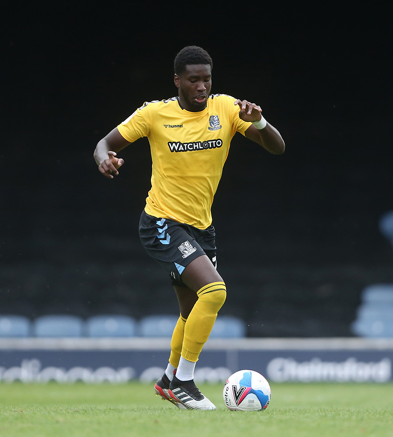 Southend United's Richard Taylor<br /> <br /> Photographer Rob Newell/CameraSport<br /> <br /> EFL Trophy Southern Section Group A - Southend United v West Ham United U21 - Tuesday 8th September 2020 - Roots Hall - Southend-on-Sea<br />  <br /> World Copyright © 2020 CameraSport. All rights reserved. 43 Linden Ave. Countesthorpe. Leicester. England. LE8 5PG - Tel: +44 (0) 116 277 4147 - admin@camerasport.com - www.camerasport.com