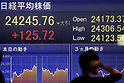 Nikkei Stock Average finishes at 24,245.76 up 0.52 percent, its highest level since 1991