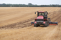 5-8-2021 Case Quadtrac cultivating barley stubble <br /> ©Tim Scrivener Photographer 07850 303986<br />      ....Covering Agriculture In The UK....
