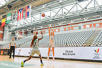 Julie Vanloo (35) of Belgium pictured during a basketball game between the national teams of Belgium , called the Belgian Cats , and Nigeria on Sunday 30 th of May 2021 in Kortrijk , Belgium . PHOTO SPORTPIX.BE | SPP | STIJN AUDOOREN