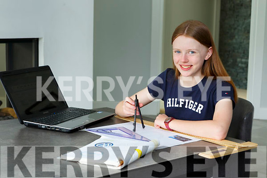 Amy Healy Killarney who has been studying at home during the lock down