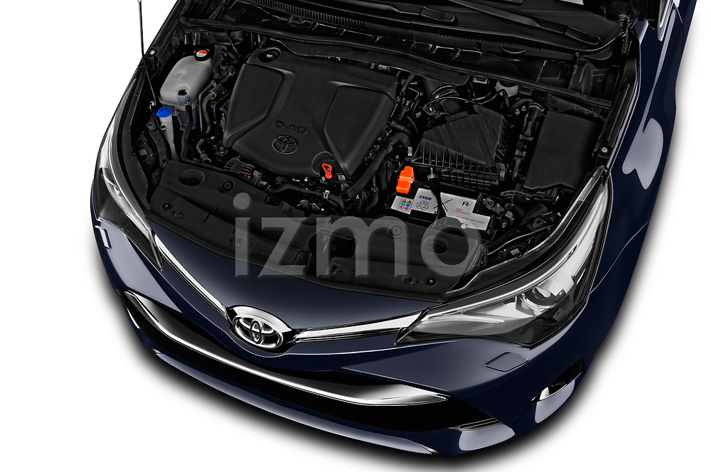 Car stock 2017 Toyota Avensis TS Premium 5 Door Wagon engine high angle detail view