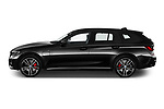 Car Driver side profile view of a 2021 BMW 3-Series-Touring-PHEV M-Sport 5 Door Wagon Side View