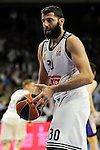 Real Madrid´s Ioannis Bourousis during 2014-15 Euroleague Basketball Playoffs second match between Real Madrid and Anadolu Efes at Palacio de los Deportes stadium in Madrid, Spain. April 17, 2015. (ALTERPHOTOS/Luis Fernandez)