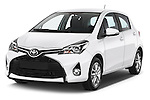 2015 Toyota YARIS Dynamic 5 Door Hatchback 2WD Angular Front stock photos of front three quarter view