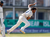 Grant Stewart bowls for Kent during Kent CCC vs Worcestershire CCC, LV Insurance County Championship Division 3 Cricket at The Spitfire Ground on 5th September 2021