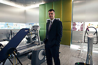 Skolkovo, Russia, 15/03/2011..Russian billionaire businessman Mikhail Prokhorov in the gymnasium at his home in Skolkovo outside Moscow.