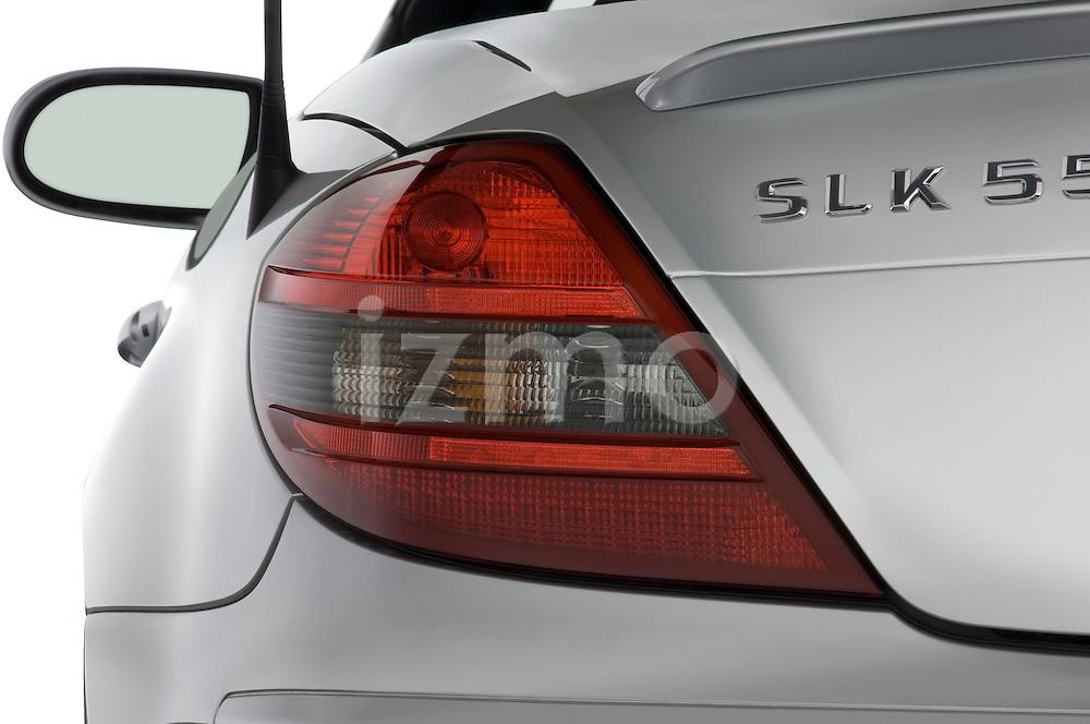 Close up tail light detail of a Mercedes Benz SLK Class sports car