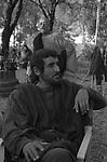 """VITTORIO GASSMAN SUL SET  DE"""" SCIPIONE DETTO L'AFRICANO"""" VILLA ADA ROMA 1971"""