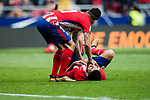 Diego Costa of Atletico de Madrid lies injured on the pitch during the La Liga 2017-18 match between Atletico de Madrid and Girona FC at Wanda Metropolitano on 20 January 2018 in Madrid, Spain. Photo by Diego Gonzalez / Power Sport Images