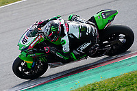 31st  March 2021; Barcelona, Spain; World Superbike testing at Circuit Barcelona-Catalunya;   Alex Lowes (GBR) riding Kawasaki ZX 10RR for Kawasaki Racing Team WORLDSBK