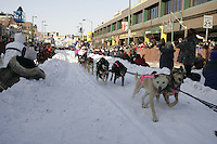 March 3, 2007   DeeDee Jonrowe during the Iditarod ceremonial start day in Anchorage