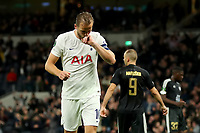 30th September 2021; Tottenham Hotspur Stadium. Tottenham, London, England; UEFA Conference League football, Tottenham v NS Mura: Harry Kane of Tottenham Hotspur celebrates as he scores a hat-trick for 5-1 in the 88th minute