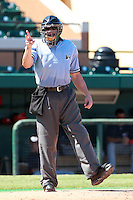 Home plate umpire Tim Rosso during a game between the Washington Nationals and Detroit Tigers Instructional League teams at Joker Marchant Stadium in Lakeland, Florida;  October 1, 2010.   Photo By Mike Janes/Four Seam Images