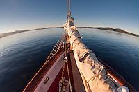 Aboard SV Maple Leaf, Gulf Islands, British Columbia, Canada