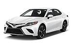 2020 Toyota Camry XSE 4 Door Sedan Angular Front automotive stock photos of front three quarter view