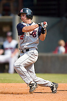 Tennessee's Steve Garrabrants (25) follows through on his swing versus Carolina at Five County Stadium in Zebulon, NC, Sunday, July 2, 2006.  The Mudcats defeated the Smokies 4-0.