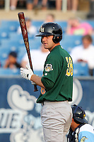 Lynchburg Hillcats third baseman Joe Leonard #38 during a game against the Wilmington Blue Rocks at Frawley Stadium on May 3, 2011 in Wilmington, Delaware.  Lynchburg defeated Wilmington by the score of 11-1.  Photo By Mike Janes/Four Seam Images