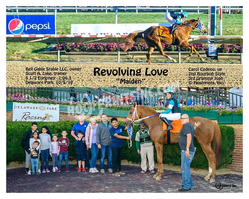 Revolving Love winning at Delaware Park on 10/5/19