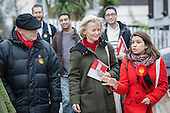 Tulip Siddiq with Neil and Glenys Kinnock.  General election 2015: Tulip Siddiq, Labour candidate for Hampstead & Kilburn, the second most marginal seat in the UK, canvasses voters in Swiss Cottage.
