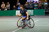 Rotterdam, The Netherlands, 12 Februari 2020, ABNAMRO World Tennis Tournament, Ahoy. Wheelchair:  Daniel Caverzaschi (ESP). <br /> Photo: www.tennisimages.com