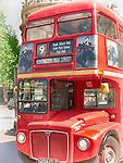 Red Double Decker Bus, Trafalgar Square, London, UK