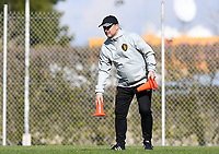 20190228 - LARNACA , CYPRUS : Belgian head coach Ives Serneels pictured during a Matchday -1 training from The Belgian Red Flames prior to their game against the women team of Austria , on Thursday 28 February 2019 at the Alpha Sports Grounds in Larnaca , Cyprus . This will be the second game in group C for Belgium during the Cyprus Womens Cup 2019 , a prestigious women soccer tournament as a preparation on the European Championship 2021 qualification duels. PHOTO SPORTPIX.BE | DAVID CATRY