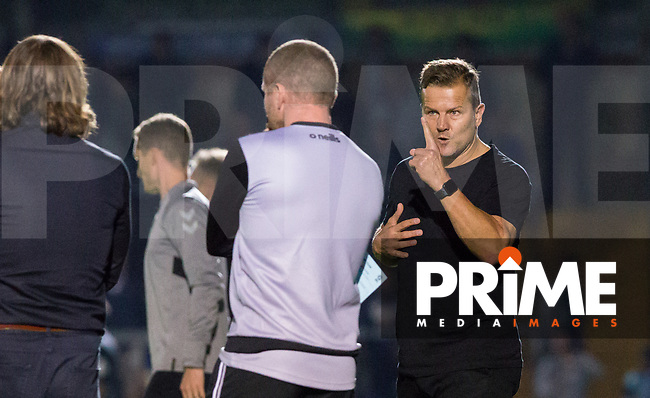 Forest Green Rovers Manager Mark Cooper during the Carabao Cup 2nd round match between Wycombe Wanderers and Forest Green Rovers at Adams Park, High Wycombe, England on 28 August 2018. Photo by Kevin Prescod.