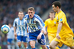 GLASGOW, SCOTLAND - JANUARY 28:  Killie's Dean Shiels and Ayr's Eddie Malone during the Scottish Communities Cup Semi Final match between Ayr United and Kilmarnock at Hampden Park on January 28, 2012 in Glasgow, United Kingdom. (Photo by Rob Casey/Getty Images).