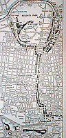 Map of Regents Park and surrounding area. London