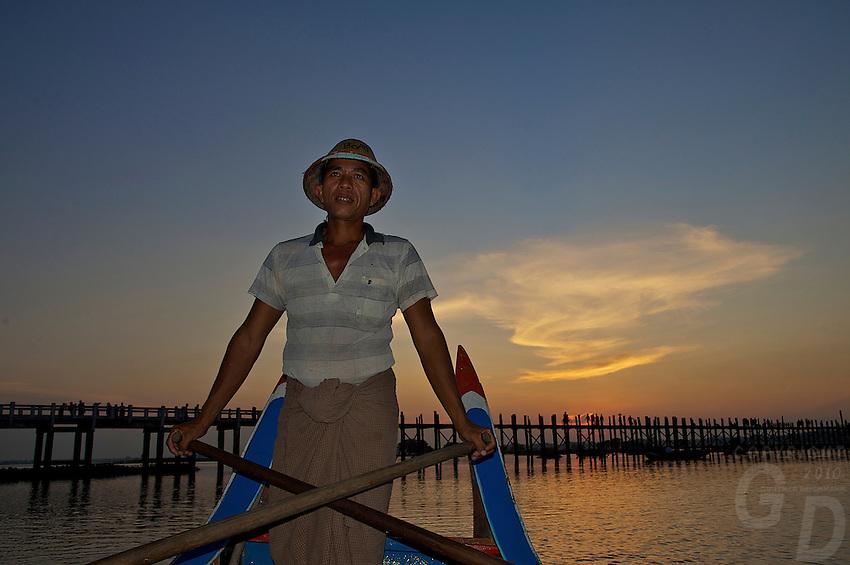 U-Bein Teak wood Bridge in Mandalay