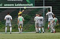 Kevin Lang (Stockstadt) pariert - Rüsselsheim 22.08.2021: SV Alemannia Königstädten vs. SKG Stockstadt, Kreisliga A