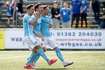 Forfar v St Johnstone….27.07.19      Station Park     Betfred Cup       <br />Ross Forbes celebrates his free kick<br />Picture by Graeme Hart. <br />Copyright Perthshire Picture Agency<br />Tel: 01738 623350  Mobile: 07990 594431