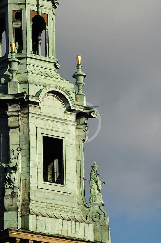 Poland, Krakow, Wawel, Cathedral tower