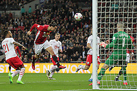 Zlatan Ibrahimovic of Manchester United scores to make it 3-2 during the EFL Cup Final match <br /> Londra Wembley Stadium Southampton vs Manchester United - EFL League Cup Finale - 26/02/2017 <br /> Foto Phcimages/Panoramic/Insidefoto