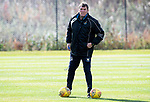 St Johnstone Training….Manager Tommy Wright pictured during training at McDiarmid Park ahead of Sundays game against Celtic.<br />Picture by Graeme Hart.<br />Copyright Perthshire Picture Agency<br />Tel: 01738 623350  Mobile: 07990 594431