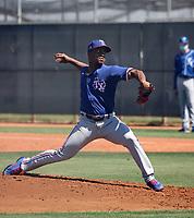 Fernery Ozuna - Texas Rangers 2021 spring training (Bill Mitchell)