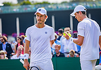 London, England, 5 th. July, 2018, Tennis,  Wimbledon, Men's doubles: Wesley Koolhof (NED) and Marcus Daniel (NZL) (R)<br /> Photo: Henk Koster/tennisimages.com