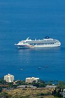 Norwegien Cruise Line Pride of Aloha, viewed from Holualoa, Kailua Kona, The Big Island of Hawaii