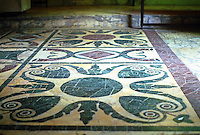 Italy: Rome--Roman Forum, floor of Curia. Marble inlay with Porphyry and Serpentine.