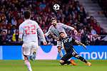 Gerard Pique of Spain (L) fights for the ball with Lautaro Martinez of Argentina (R) during the International Friendly 2018 match between Spain and Argentina at Wanda Metropolitano Stadium on 27 March 2018 in Madrid, Spain. Photo by Diego Souto / Power Sport Images
