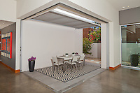 Stock photo of covered outdoor dining room