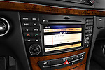 Stereo audio system close up detail view of a 2009 Mercedes E Class Wagen 350