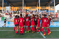 Bradenton, FL - Sunday, June 12, 2018: USA, Fans, celebration during a U-17 Women's Championship Finals match between USA and Mexico at IMG Academy.  USA defeated Mexico 3-2 to win the championship.