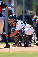 Detroit Tigers Sam McMillan (32) during a Minor League Spring Training game against the Atlanta Braves on March 22, 2018 at the TigerTown Complex in Lakeland, Florida.  (Mike Janes/Four Seam Images)