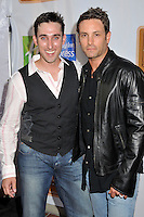 """PAUL J. ALESSI & NICK STABILE.5th Annual Hollyshorts Film Festival Screening of """"Knuckle Draggers"""" held at Laemmle's Sunset 5 Theatre, West Hollywood, CA, USA..August 12th, 2009.half length grey gray waistcoat black leather jacket .CAP/ADM/BP.©Byron Purvis/AdMedia/Capital Pictures."""