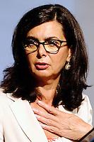 Laura Boldrini<br /> Milano 15/07/2013 - Camera del Lavoro <br /> convegno 'La violenza sulle donne è un emergenza' <br /> foto Daniele Buffa/Image/Insidefoto