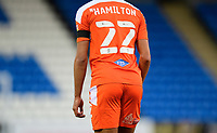 Blackpool's CJ Hamilton wears a black armband in tribute to Warren Green, Blackpool's academy manager, who died aged 46<br /> <br /> Photographer Chris Vaughan/CameraSport<br /> <br /> The EFL Sky Bet League One - Peterborough United v Blackpool - Saturday 21st November 2020 - London Road Stadium - Peterborough<br /> <br /> World Copyright © 2020 CameraSport. All rights reserved. 43 Linden Ave. Countesthorpe. Leicester. England. LE8 5PG - Tel: +44 (0) 116 277 4147 - admin@camerasport.com - www.camerasport.com