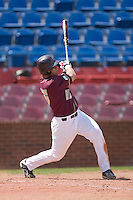 Tony Sanchez #26 of the Boston College Eagles follows through on his swing versus the Wake Forest Demon Deacons at Wake Forest Baseball Park April 11, 2009 in Winston-Salem, NC. (Photo by Brian Westerholt / Four Seam Images)