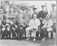 Franklin D. Roosevelt, Churchill, C. Kai Sheck, and Mrs. Sheck in Cairo, Egypt NOV 22 to 26, 1943